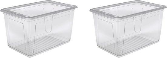 keeeper Stapelbox »bea« (Set, 2 Stück), mit Belüftungsfunktion, 52 Liter