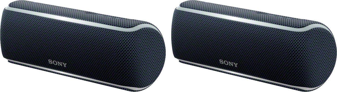 Sony SET 2x SRSXB21 Portable-Lautsprecher (Bluetooth, NFC, Extra Bass, Live Sound Modus, Freisprechfunktion, Ladefunktion für Mobilgeräte)