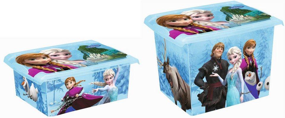 keeeper deko box mit deckel und frozen dekor 2er set. Black Bedroom Furniture Sets. Home Design Ideas