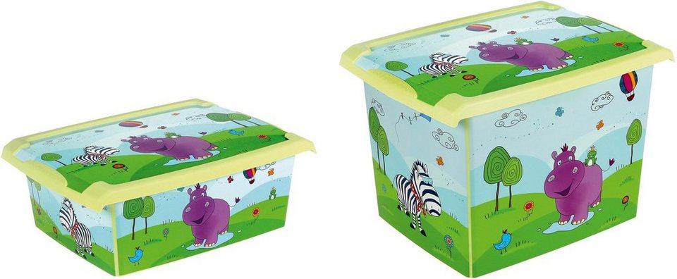 keeeper deko box mit deckel und hippo dekor 2er set. Black Bedroom Furniture Sets. Home Design Ideas