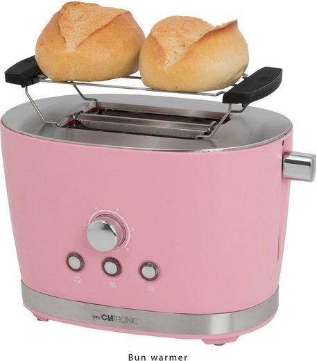 CLATRONIC Toaster Clatronic TA 3690 pink, 2 kurze Schlitze, für 2 Scheiben, 850 W