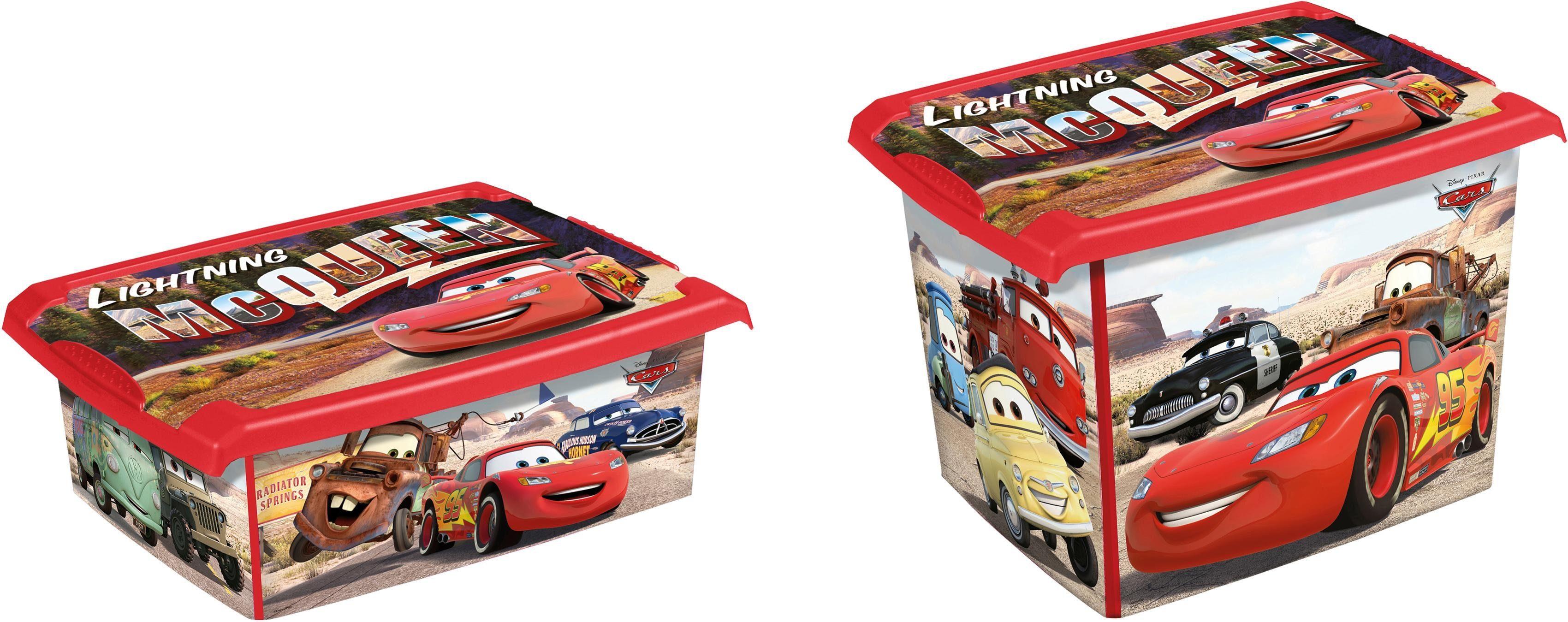 keeeper Deko-Box mit Deckel und Cars Dekor, 2er Set, »filip«