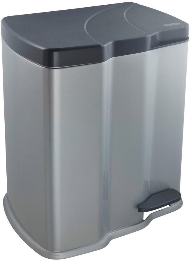 keeeper Tretabfalleimer mit zwei Kammern, für die perfekte Mülltrennung, »gunnar«