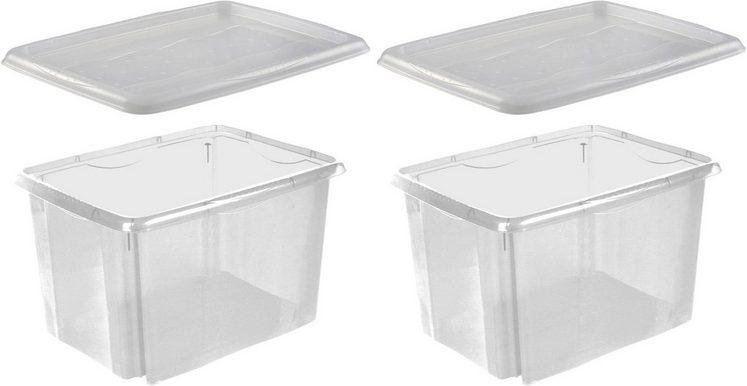 keeeper Stapelbox »emil« (Set, 2 Stück), mit Deckel, 44,5 x 34,5 x 27 cm, 30 Liter, 2er Set