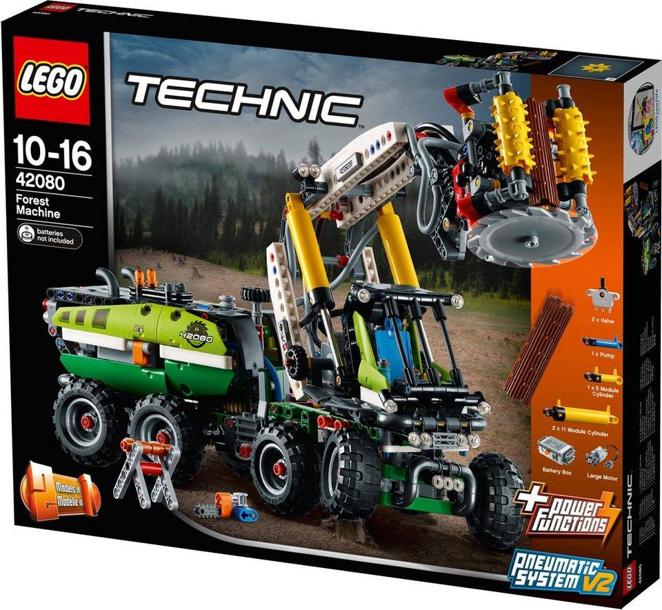 lego konstruktionsspielsteine harvester forstmaschine 42080 lego technic 1003 st. Black Bedroom Furniture Sets. Home Design Ideas