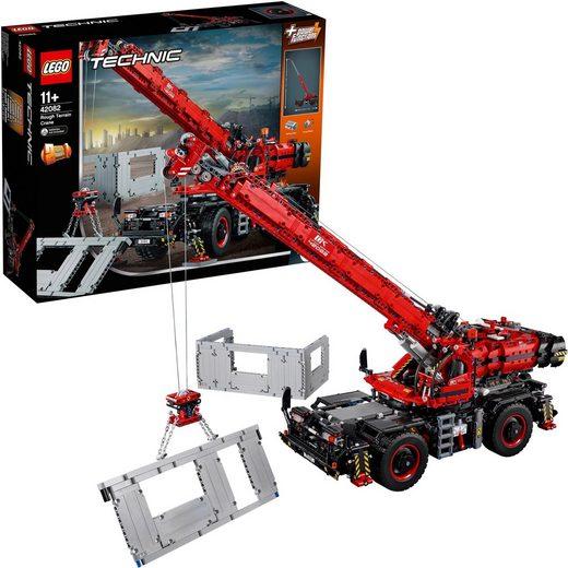 LEGO® Konstruktionsspielsteine »Geländegängiger Kranwagen (42082), LEGO® Technic«, (4057 St)