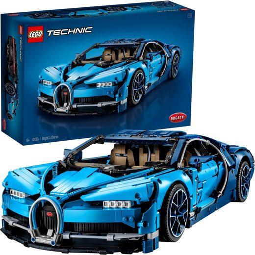 LEGO® Konstruktionsspielsteine »Bugatti Chiron (42083), LEGO® Technic«, Kunststoff, (3599 St)