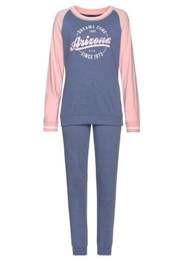 Arizona Pyjama im College-Look mit Folienprint