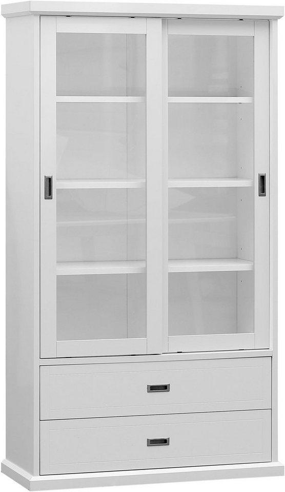 home affaire vitrine lassie 100 cm breit mit 2 schiebet ren online kaufen otto. Black Bedroom Furniture Sets. Home Design Ideas
