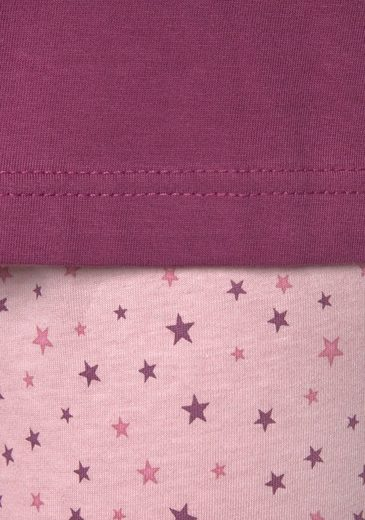 Vivance Sternenprint BordeauxMarine Pyjamas2 Dreams StückMit O8nwv0mN