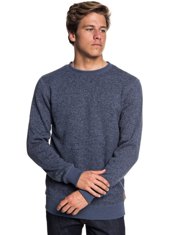 Herren Quiksilver Fleece-Sweatshirt Keller blau | 03613373821522