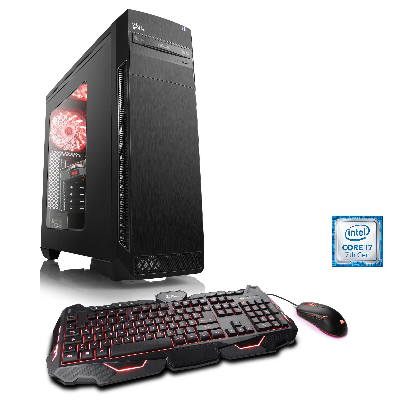 CSL Gaming PC i7-7700K | GTX 1080 Ti | 16GB DDR4 | 240GB SSD »Speed T7591 GeForce GTX Battlebox«
