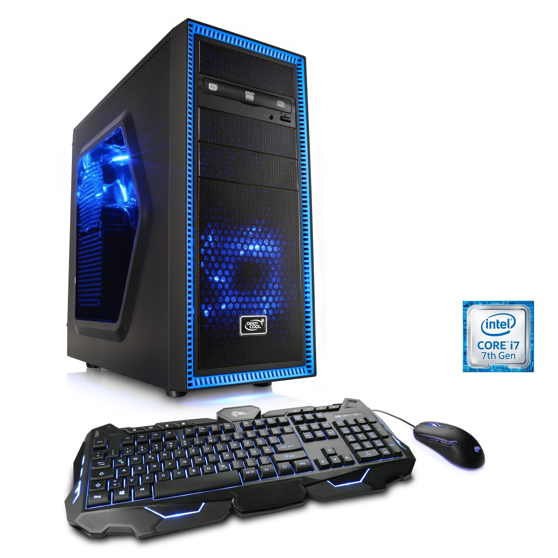 CSL Extreme Gaming PC i7-7700K | GTX 1080 | 16GB DDR4 | 240GB SSD »Speed T7598 Windows 10 Home«