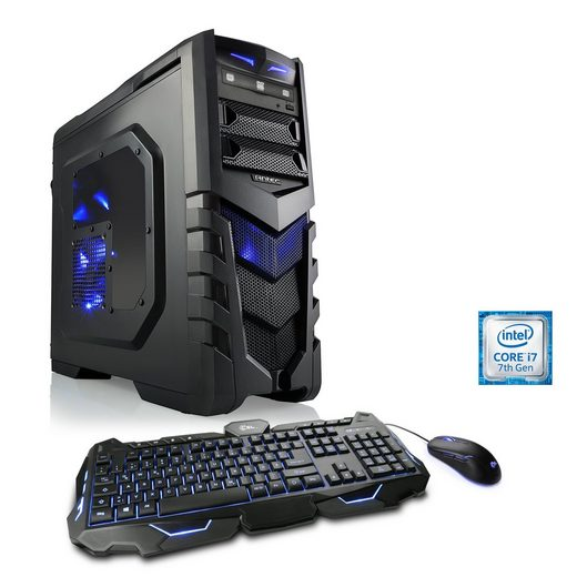 CSL Extreme Gaming PC i7-7700K | GTX 1080 Ti | 16GB DDR4 | 240GB SSD »Speed T7767 Windows 10 Home«