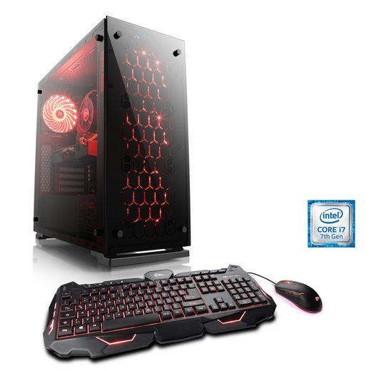 BoostBoxx Gaming PC | i7-7700K | GeForce GTX 1070 | 16GB DDR4 | SSD »eSports Gaming Edition T7080«