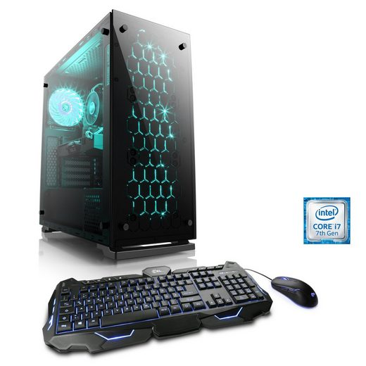 BoostBoxx Gaming PC   Core i7-7700   GeForce GTX 1080   8 GB DDR4   SSD »eSports Edition T7390«