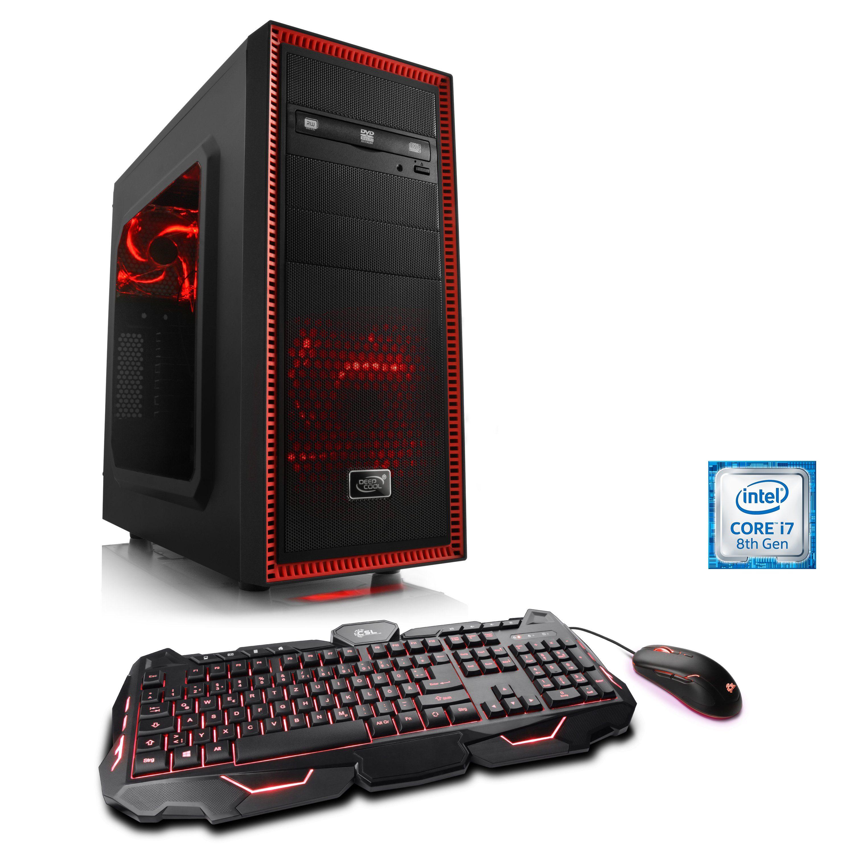 CSL Gaming PC | Core i7-8700 | GeForce GTX 1070 | 16 GB RAM | SSD »Speed T9589 Windows 10 Home«