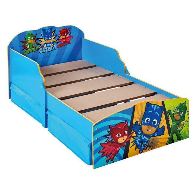 Kinderbetten - WORLDS APART Kinderbett de Luxe, mit 2 Schubkästen, PJ Masks, blau, 70 x » blau  - Onlineshop OTTO