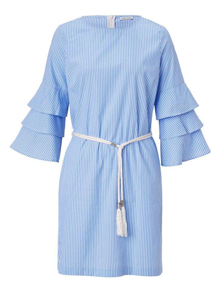 Conleys Blue Kleid mit Volantärmeln, Im sommerlichen ...