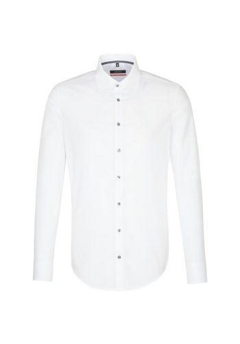 Herren seidensticker Businesshemd Slim Kent-Kragen weiß   04048869542381