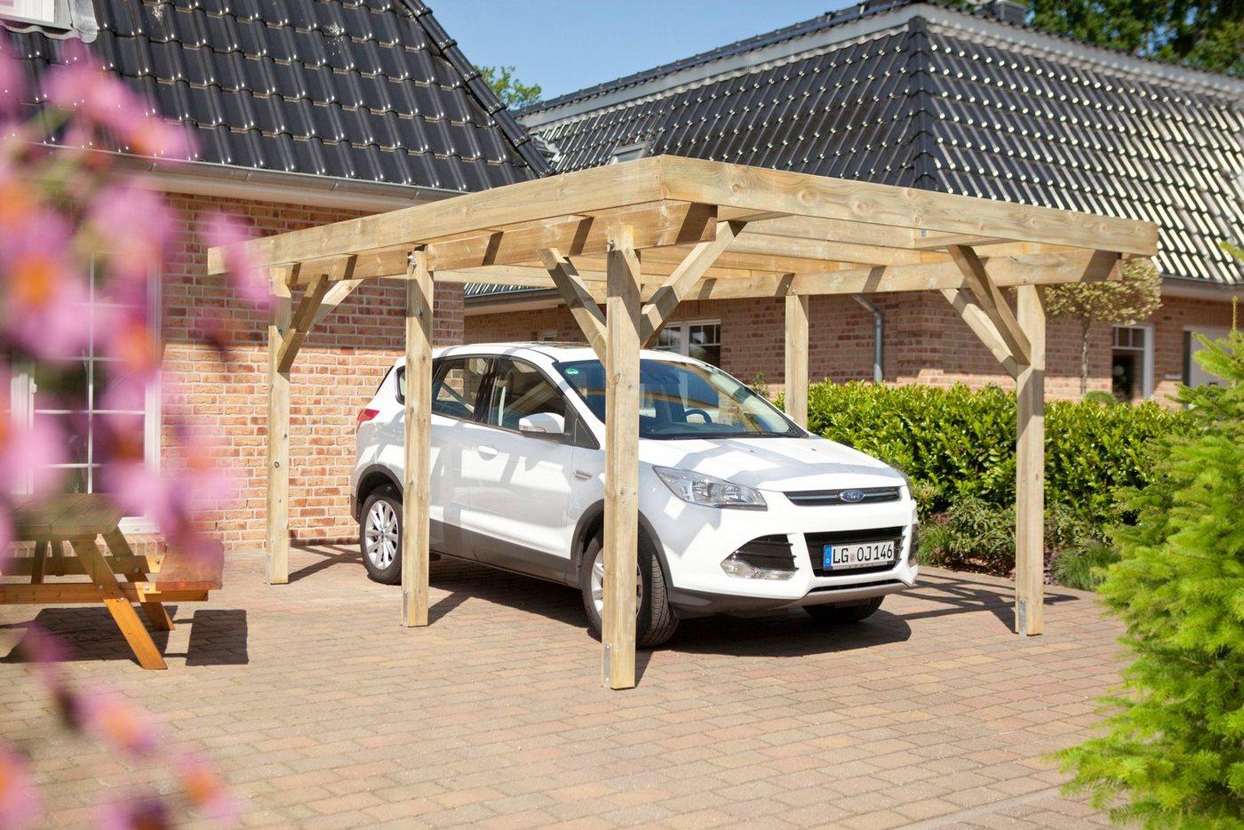 LUOMAN Einzelcarport »KH 100«, BxT: 340x510 cm, mit PVC-Dach | Baumarkt > Garagen und Carports > Carports | Grün | Kiefer | Luoman