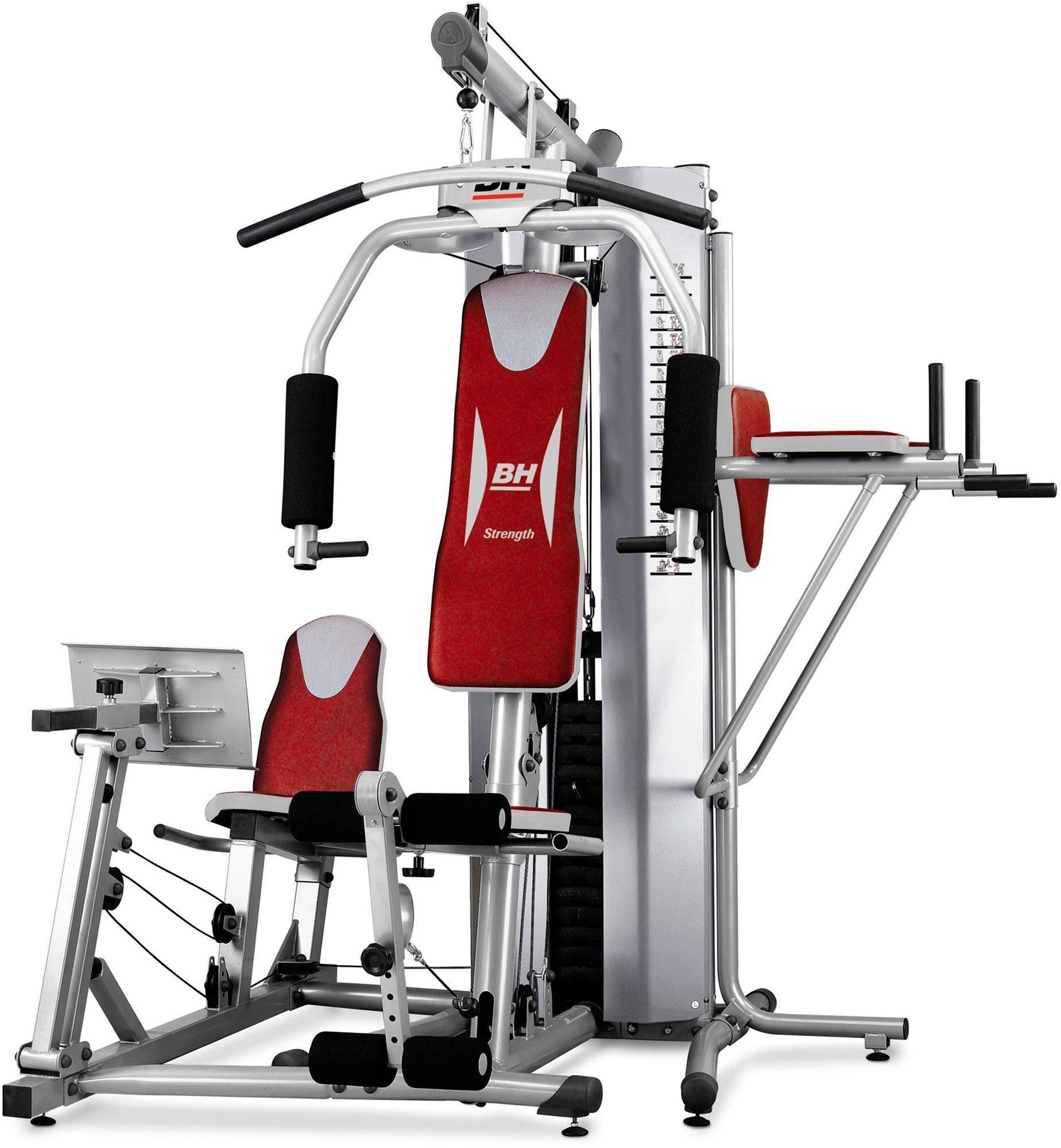 Kraftstation, grau-rot, »Global Gym Plus«, BH-Fitness
