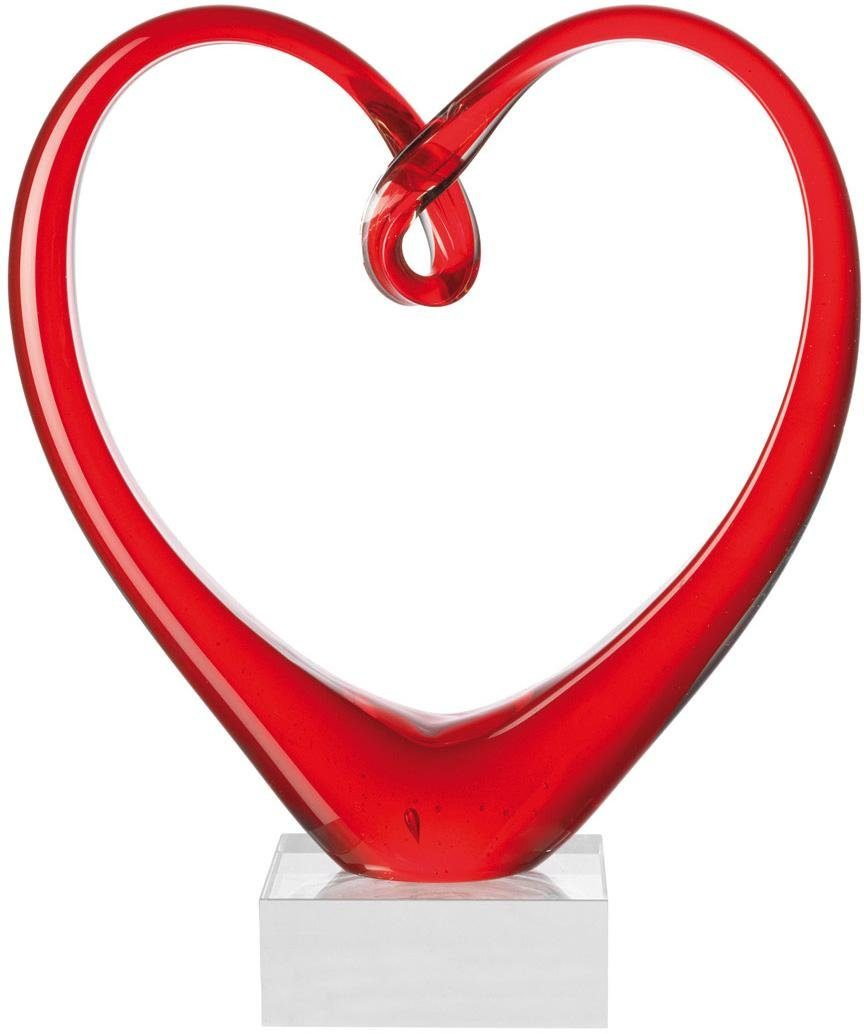 LEONARDO Skulptur, Glas, 24 cm, »Heart«
