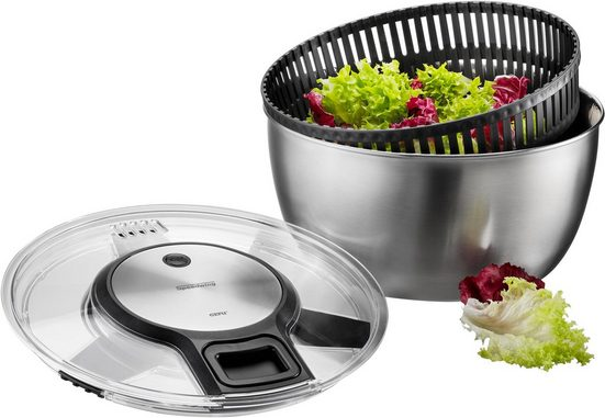GEFU Salatschleuder »SPEEDWING®«, Edelstahl, Ø 27 cm, Inhalt 5 Liter