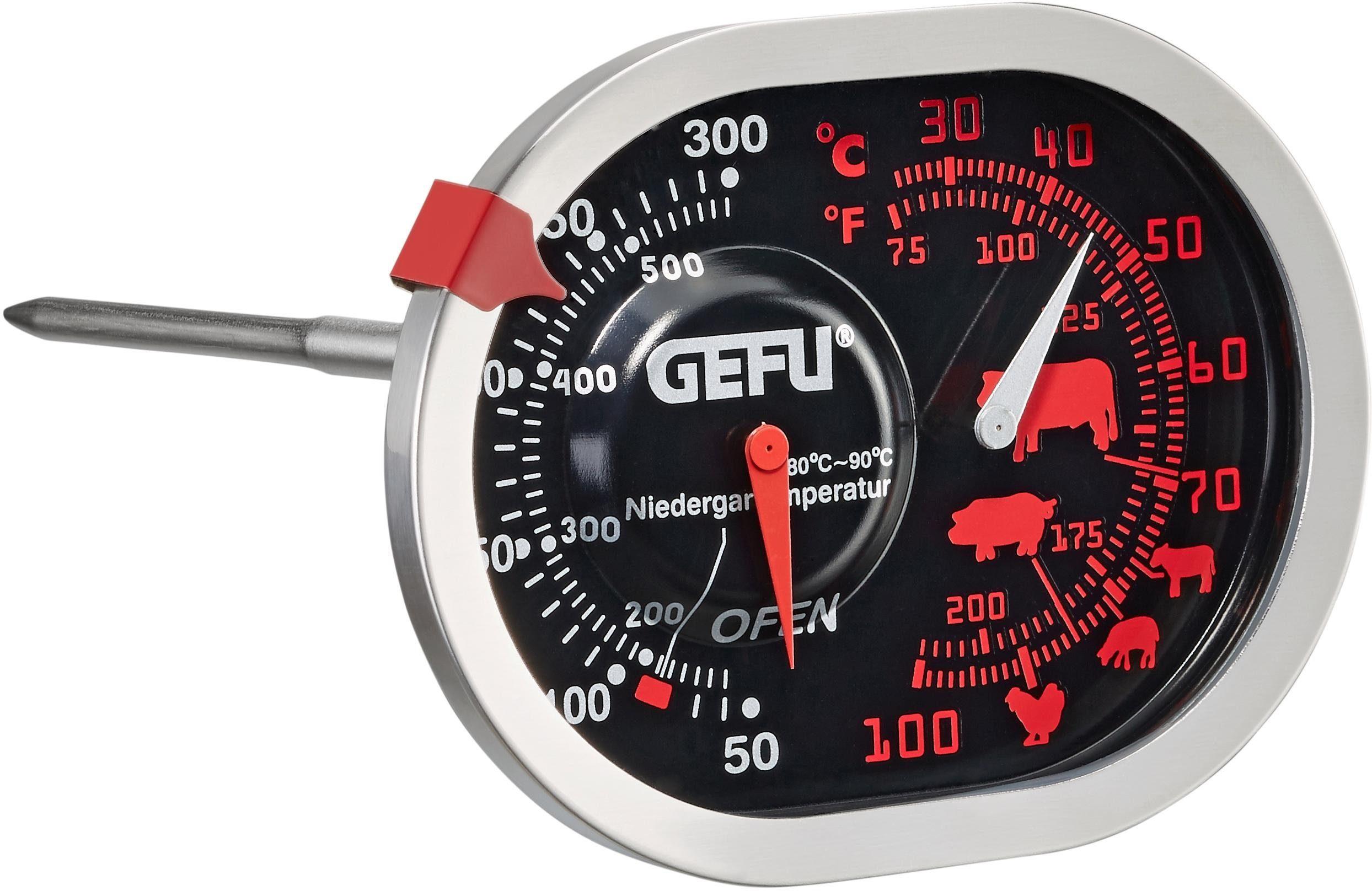 GEFU Braten-/Ofenthermometer 3in1, Edelstahl, »MESSIMO«