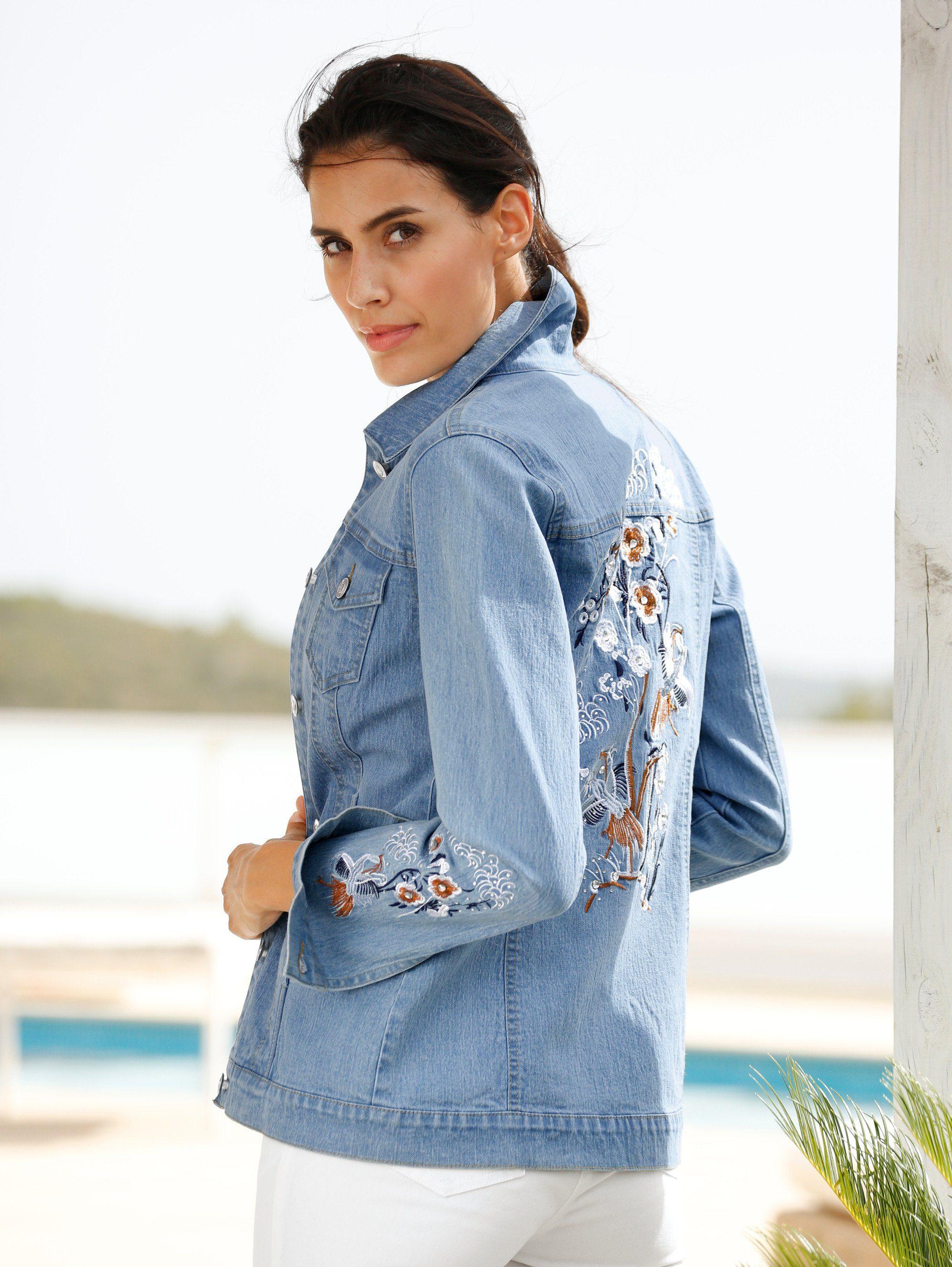 Dress In Jeansjacke Mit Dekorativer Stickerei