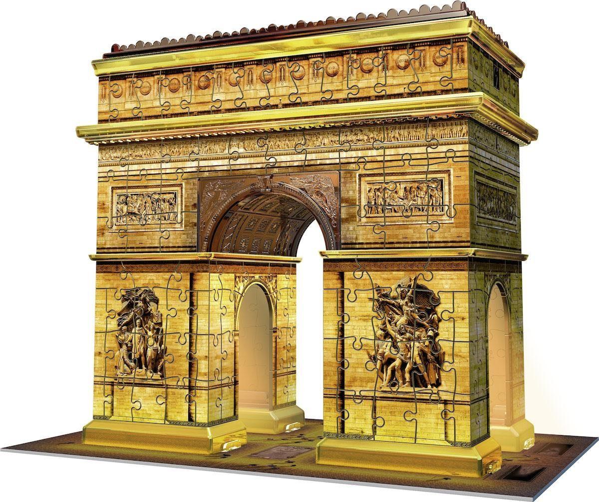 Ravensburger 3D Puzzle, 216 Teile, »Triumphbogen bei Nacht«