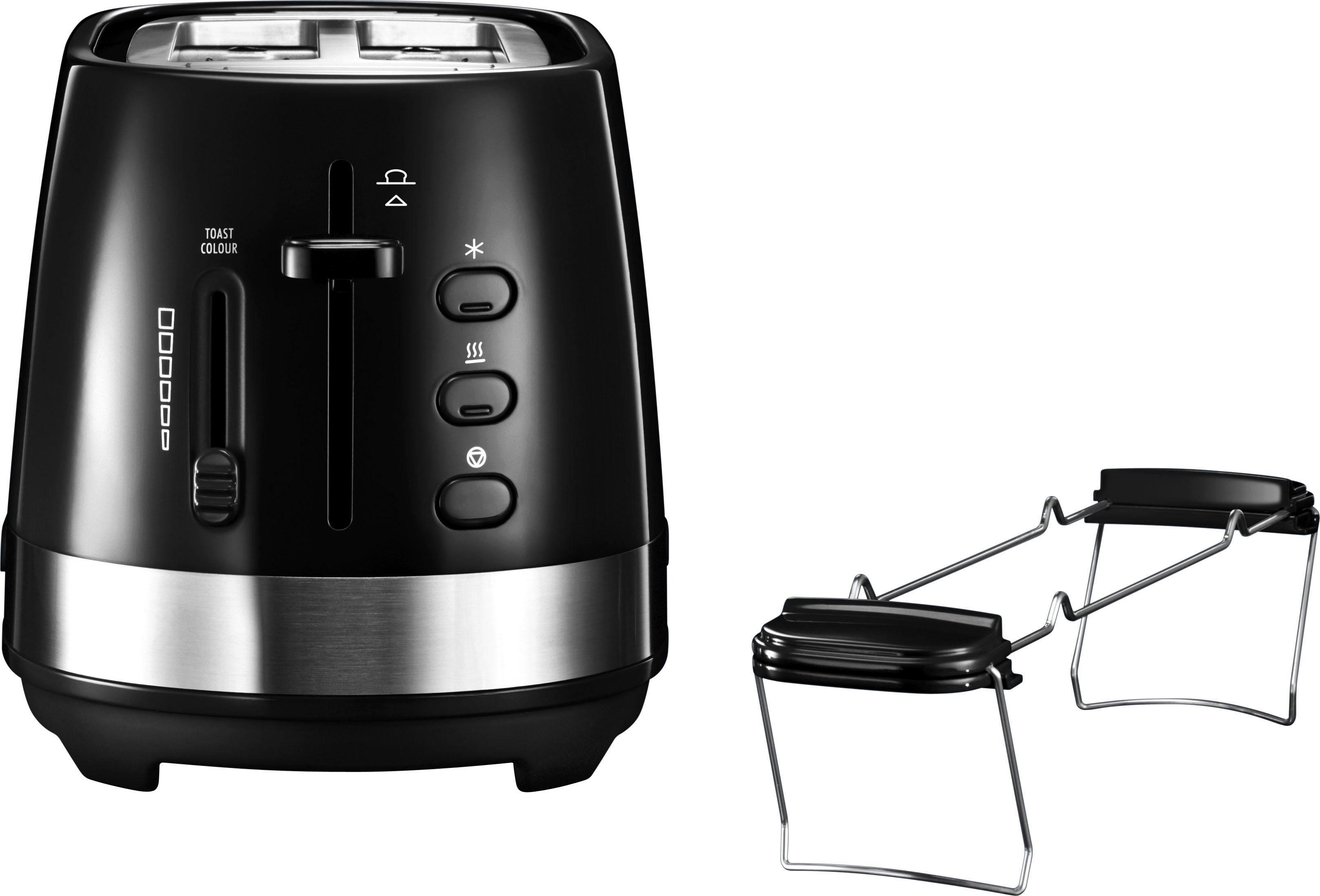 De'Longhi Toaster ACTIVE LINE CTLA2103.BK, 2 kurze Schlitze, für 2 Scheiben, 900 W