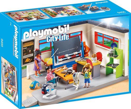 Playmobil® Konstruktions-Spielset »Klassenzimmer Geschichtsunterricht (9455), City Life«, Made in Germany
