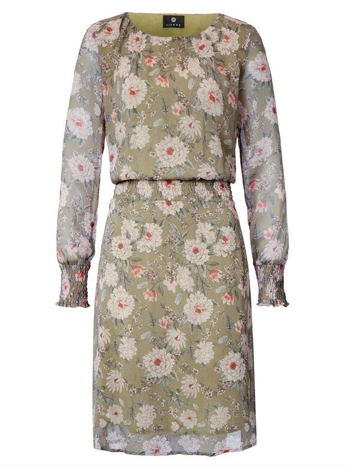 Sienna Kleid mit floralem Druck, Smokdetails an Taille und ...
