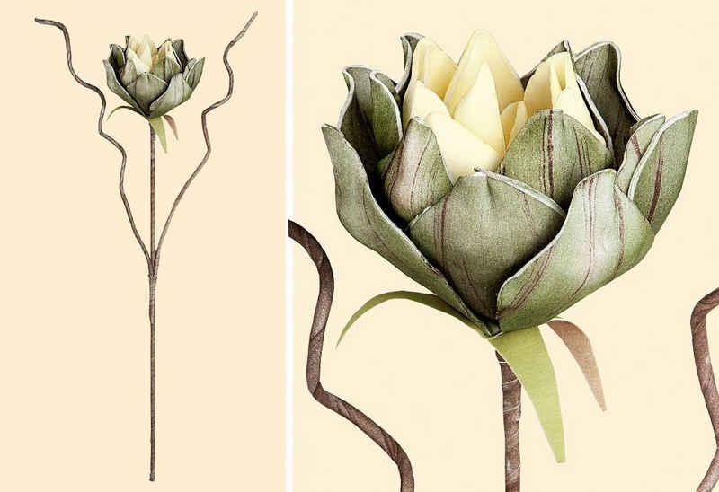 Kunstblume »Set Seerosenzweig DE3330GR« Seerose, GILDE, Höhe 60 cm