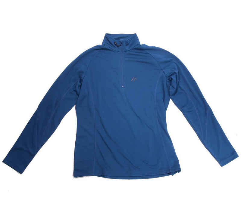 Maier Sports Funktionsshirt »maier sports Funktions Langarm-Shirt schweißableitendes Damen Sport-Shirt Troyer Freizeit-Shirt Blau«