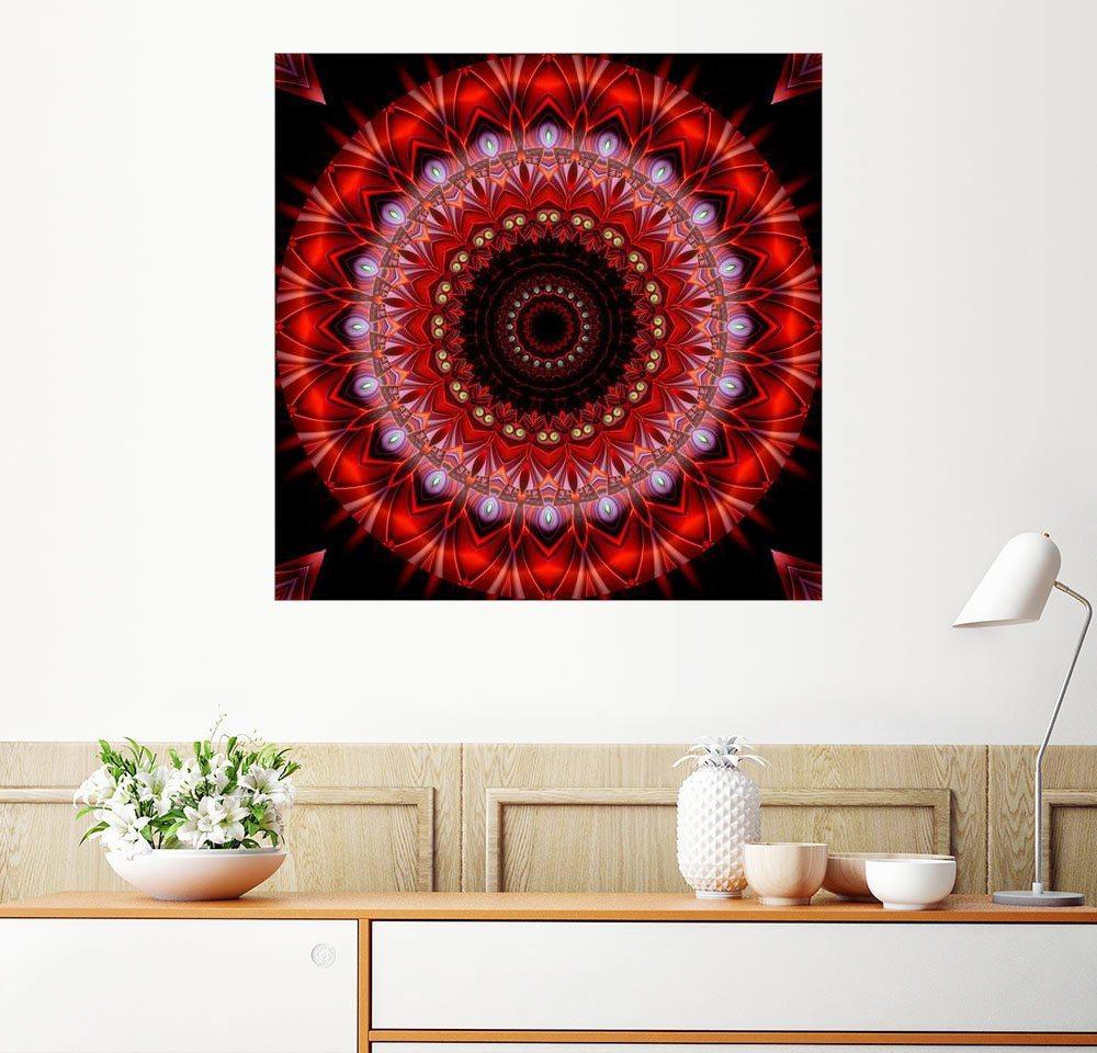Posterlounge Wandbild - Christine Bässler »Mandala Lebenslust«   Dekoration > Bilder und Rahmen > Bilder   Holz   Posterlounge