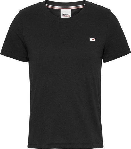 TOMMY JEANS Rundhalsshirt »TJW REGULAR JERSEY C NECK« mitTommy Jeans Logo-Flag auf der Brust