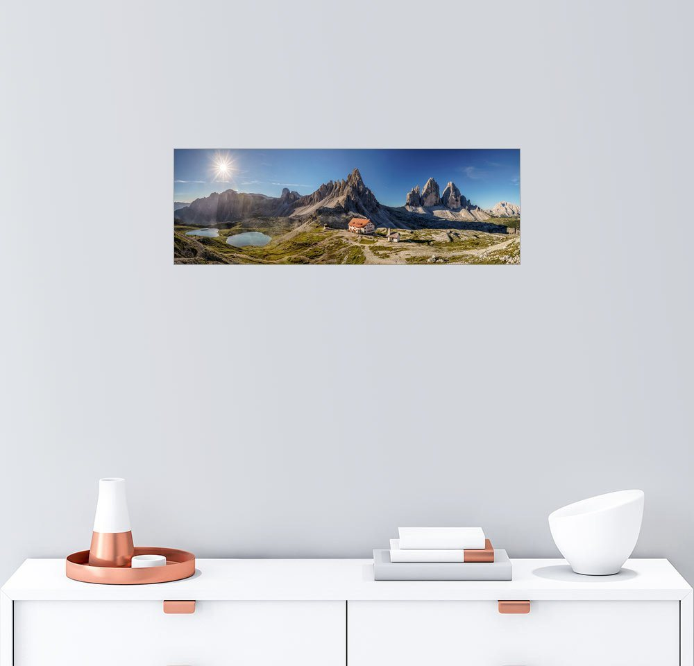 Posterlounge Wandbild – Achim Thomae DREI ZINNEN – Panorama. Südtirol Italien grau | 04053831049799