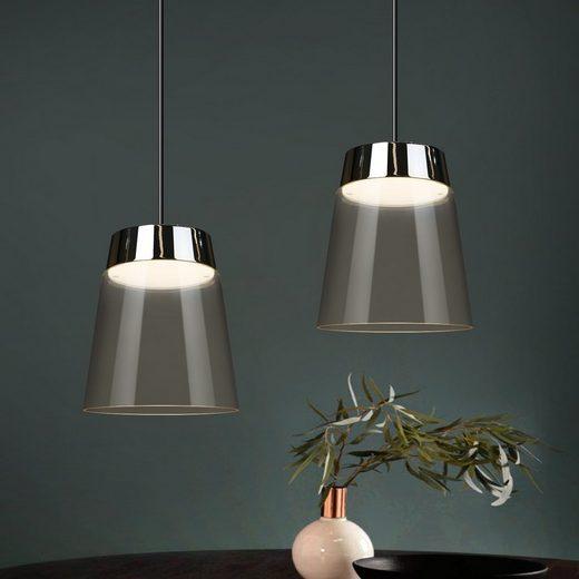 ZMH LED Pendelleuchte »Hängelampe Glas 11 W esstisch modern Pendellampe Kronleuchter warmweiss für Esszimmer Restaurant Kaffe«