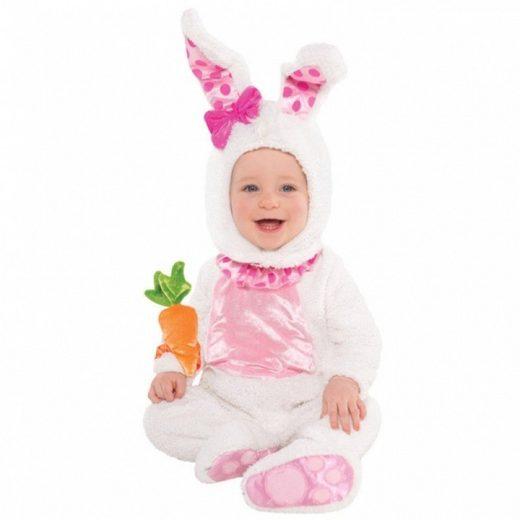 Flauschiges Hasen Baby Kostüm