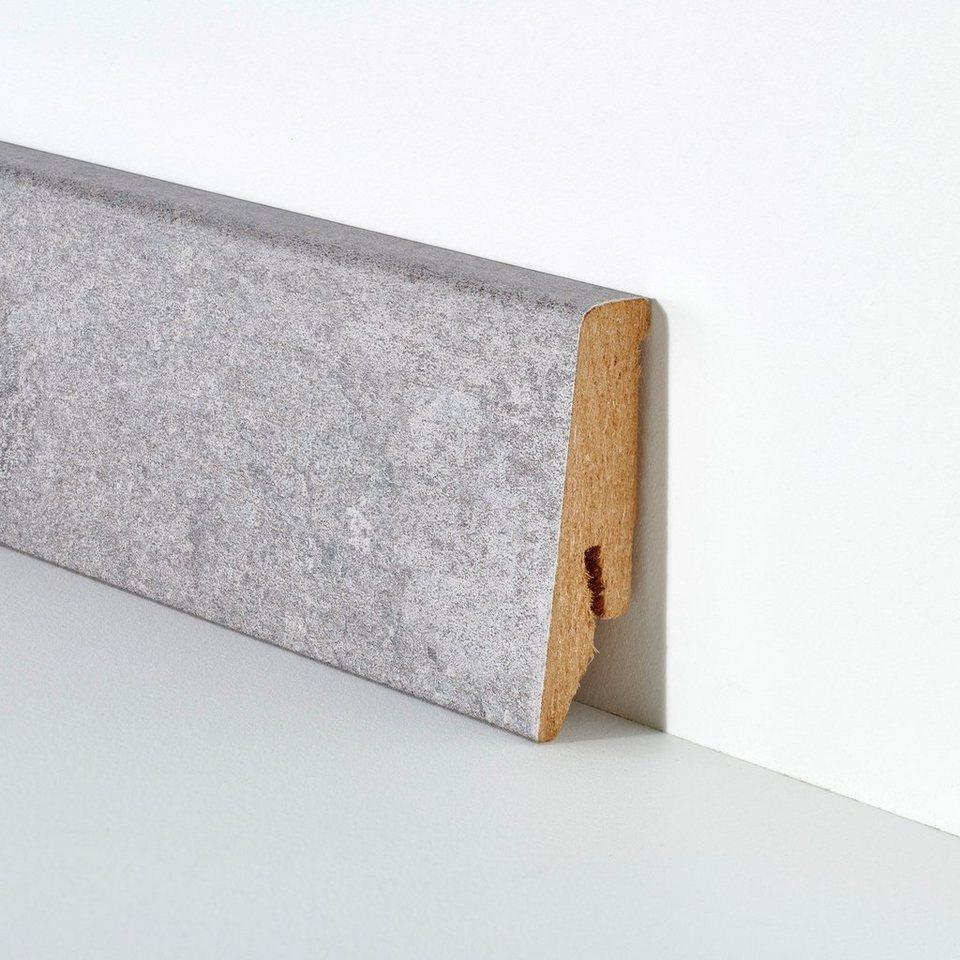 Sehr BODENMEISTER Set: Sockelleiste »Beton grau«, 2er-Pack, Höhe 5,8 cm WY24