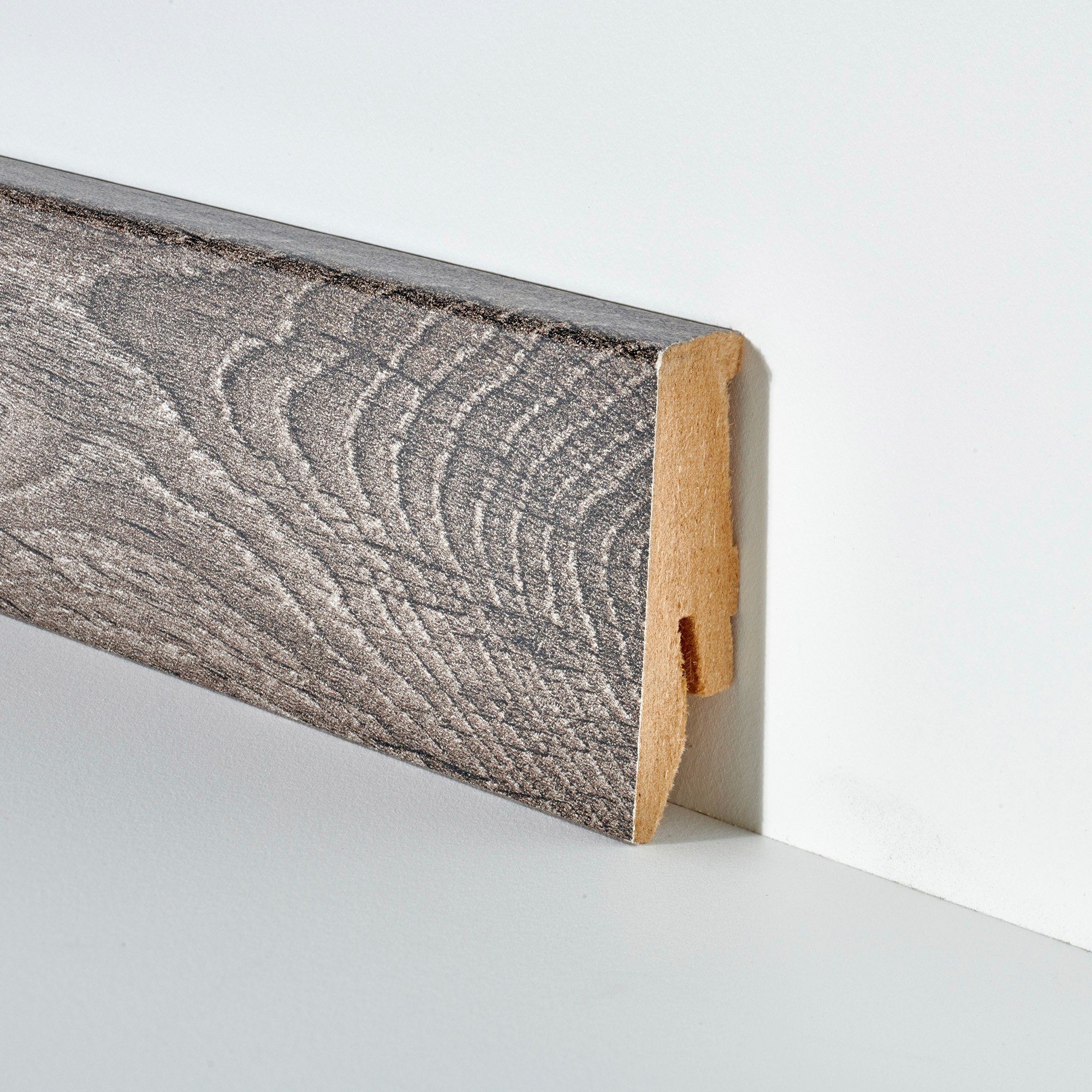 BODENMEISTER Set: Sockelleiste »Eiche grau«, 2er-Pack, Höhe 5,8 cm