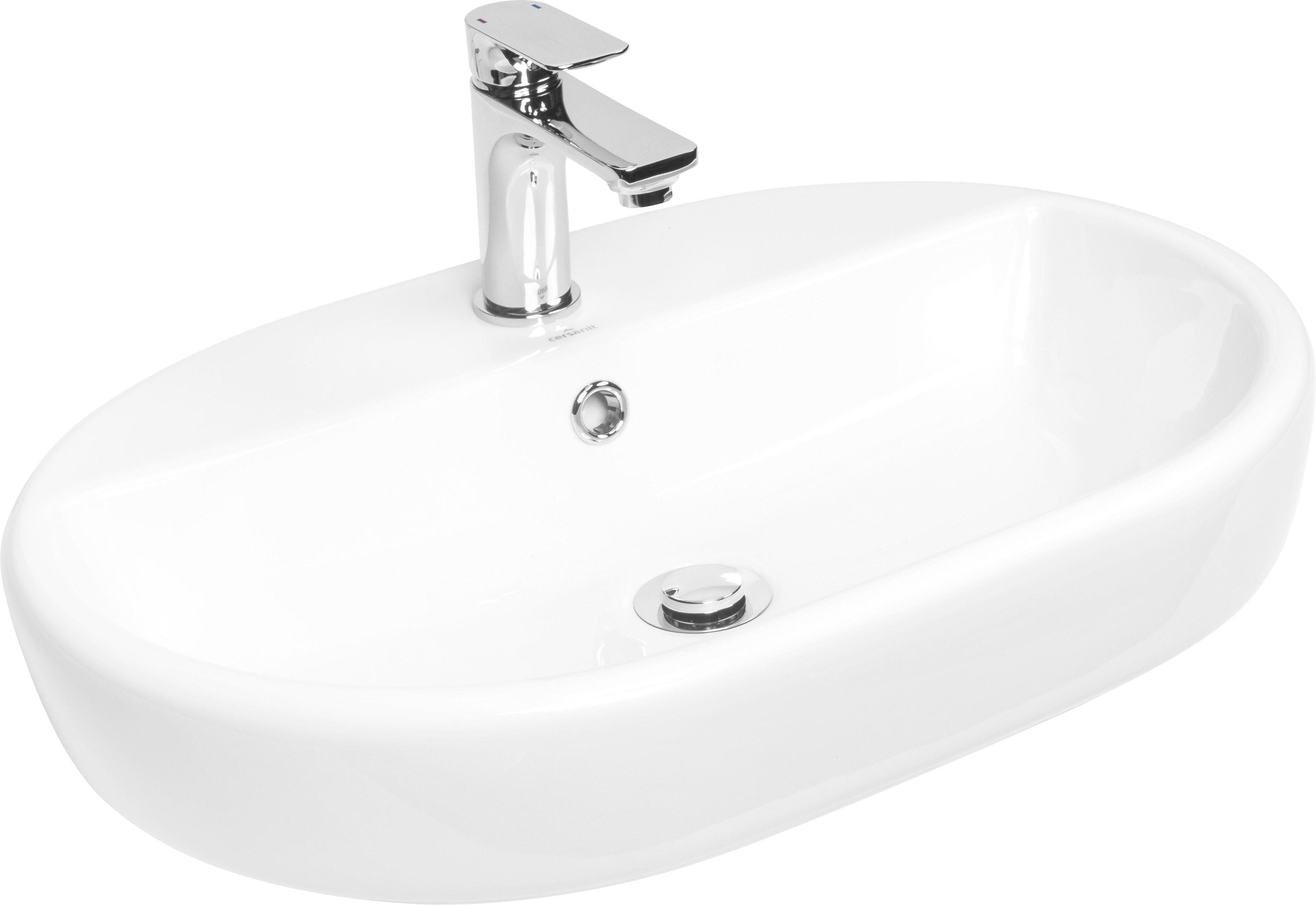 CORNAT Kombi-Set: Aufsatz-Waschbecken »Caspia oval«, inkl. Einhebelmischer