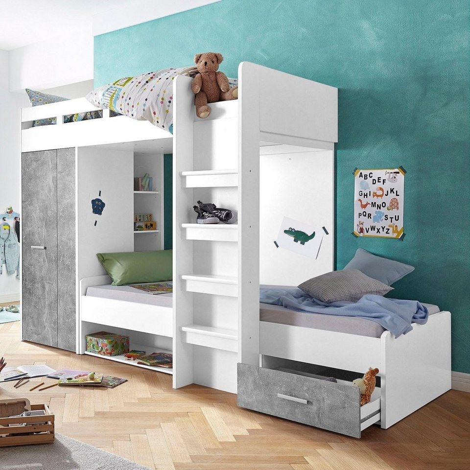 hochbett 2 liegefl chen 90x200 cm online kaufen otto. Black Bedroom Furniture Sets. Home Design Ideas
