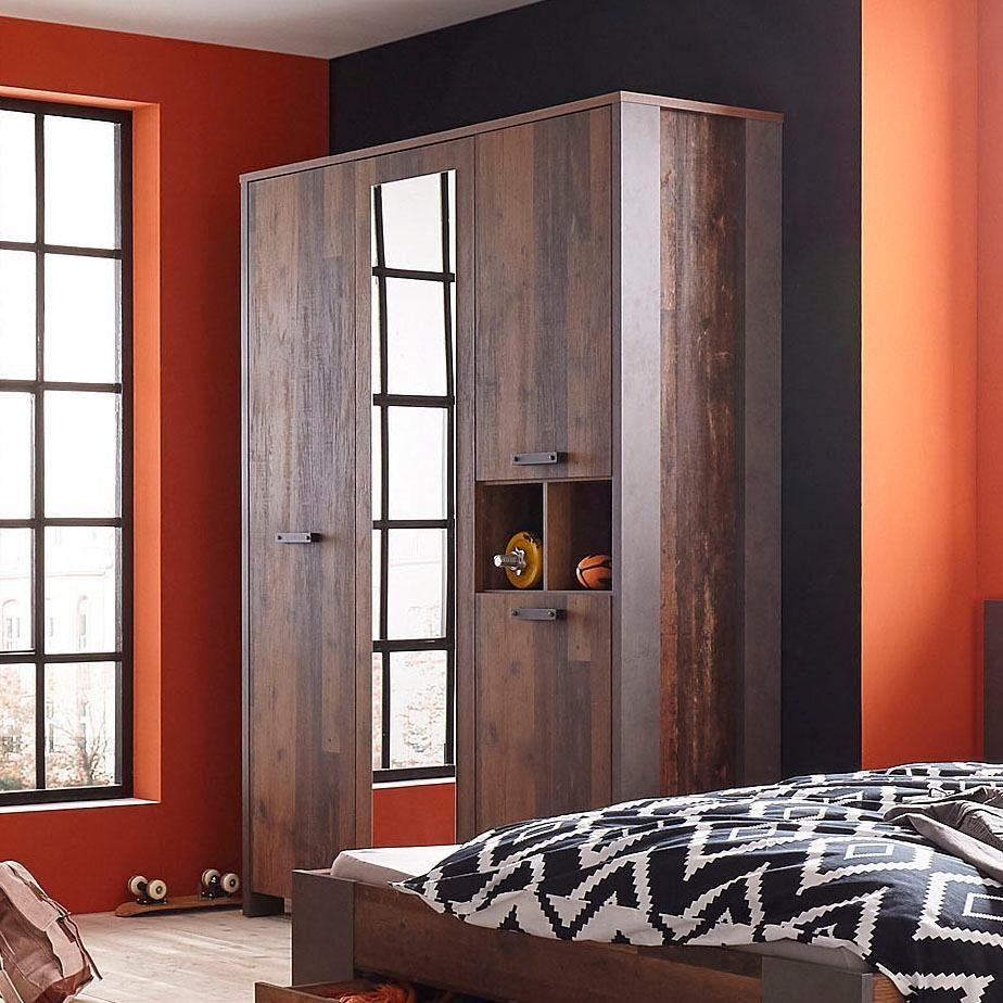 FORTE Kleiderschrank »Clif« mit Spiegelauflage