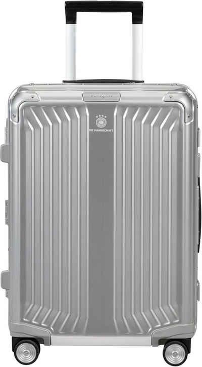 Samsonite Hartschalen-Trolley »Lite Box Alu, 55 cm«, aus eloxiertem Aluminium; DFB Edition; Made in Europe