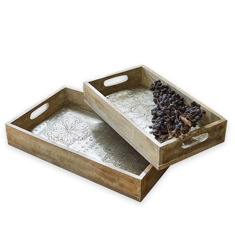 Loberon Tablett 2er Set »Cassandre«