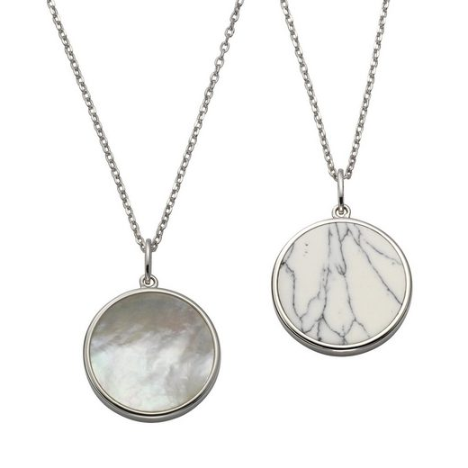 CELESTA Anhänger mit Kette »925/- Silber Perlmutt & sy. Howlith«