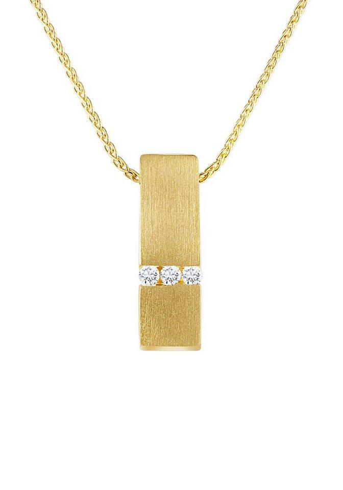 diamond line goldkette mit hochwertigem diamanten anh nger online kaufen otto. Black Bedroom Furniture Sets. Home Design Ideas